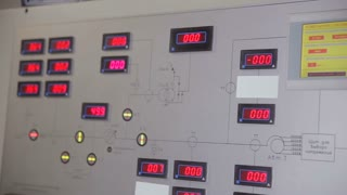 Industrial control panel in control room of a industrial power factory