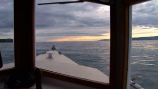 Inside A Motorboat