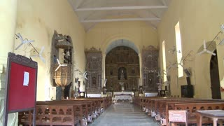 Inside Church of Bom Jesus in Daman