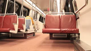 Inside DC Metro Train