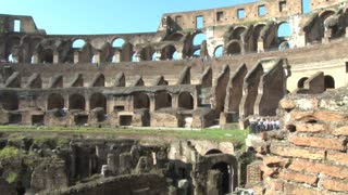 Inside the Colosseum Panning View