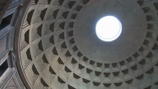 Inside the Pantheon Dome