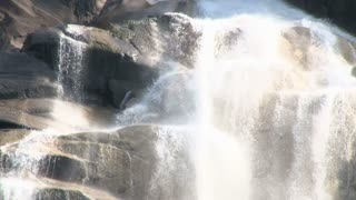Intense Water Rushing Over Boulders
