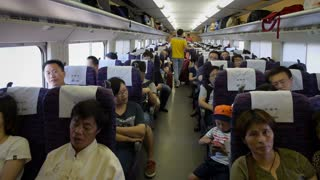 Interior Train and Passgners in China