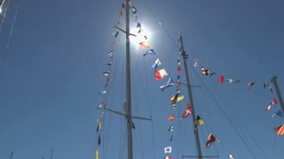 International Flags on a Sailboat