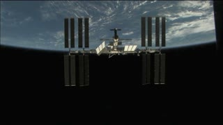 International Space Station On Earth Orbit