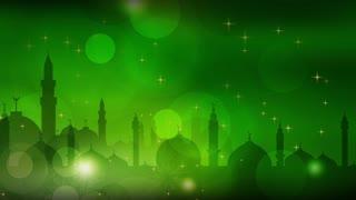Islamic Mosque Starry Night Scene 02