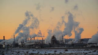 Isolated Power Plant at Sunset 2