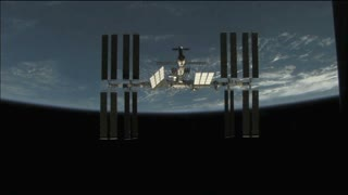ISS Passing Earth Horizon