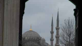 Istanbul Blue Mosque Dome Through Archway