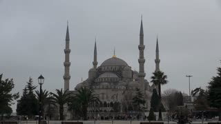 Istanbul Blue Mosque in Busy Square
