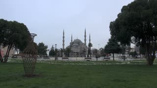 Istanbul Blue Mosque in Square