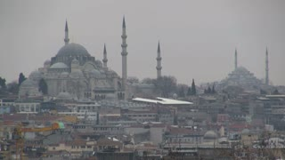 Istanbul Suleymaniye Mosque Zoom Out