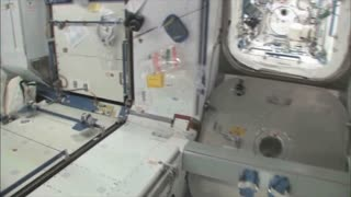 Items Attached to Wall of International Space Station