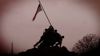 Iwo Jima Memorial Red Sky
