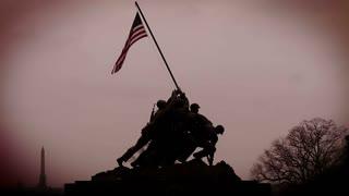 Iwo Jima Memorial Red Sky