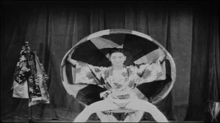 Japanese Performers Doing Tricks in Vaudeville Show