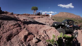 Jeep Barely Climbs Redrock Ledges