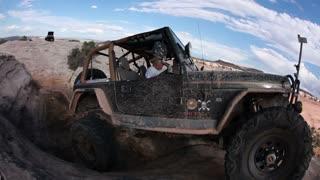 Jeep Driver Smiles at Camera