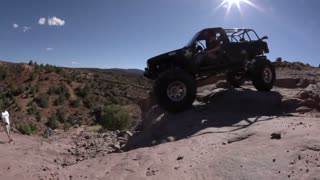 Jeep Plunging Off Steep Ledge 1