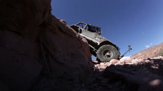 Jeep Sliding off Steep Ledge 2