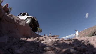 Jeep Sliding off Steep Ledge 3