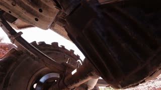Jeeps wheel axel and muffler