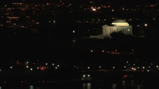 Jefferson Memorial Lit Up at Night