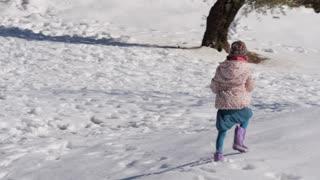 Jerusalem after snow kid play