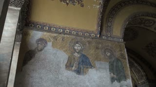 Jesus Mosaic on Mosque Wall