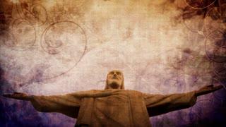 Jesus Statue Grunge