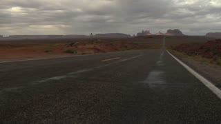 Jib Shot Up Monument Valley Highway