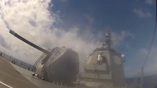 JS Kirishima launches training missile during RIMPAC 2014
