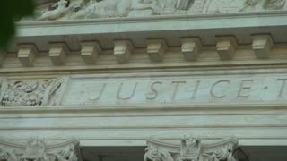 Justice Written on Supreme Court Building