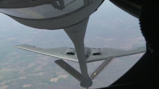 KC-135 Aircraft Tanker and B-2 Bomber Refueling