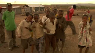 Kids Making Faces at the Camera in Africa