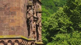 Knight Sculptures on Heidelberg Castle Ruins