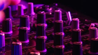 Knobs On Dj Mixing Board