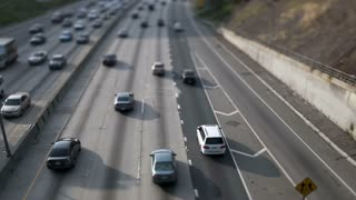 LA Highway 101 Traffic Tilt Shift