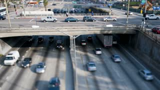 LA Highway Overpass Tilt Shift