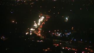 LA Overlook Night Traffic