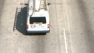 LA Overpass Above Highway Tilt Shift