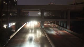 LA Timelapse Overpass Headlights