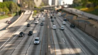 LA Traffic Freeway Tilt Shift