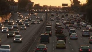 LA Traffic Heading Towards Sunset
