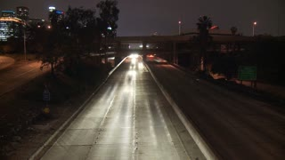 LA Traffic Headlights Time Lapse