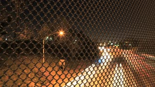 LA Traffic Lights Through Fence