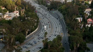 LA Traffic Overlook Daytime