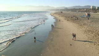 Landscape Santa Monica Beach Timelapse