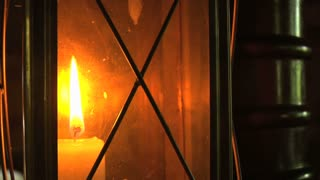 Lantern Candle Burning Bright